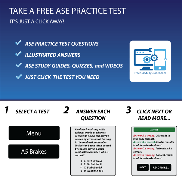 Take a free ASE practice test.