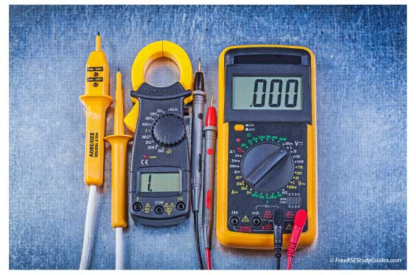 Digital multimeter ammeter