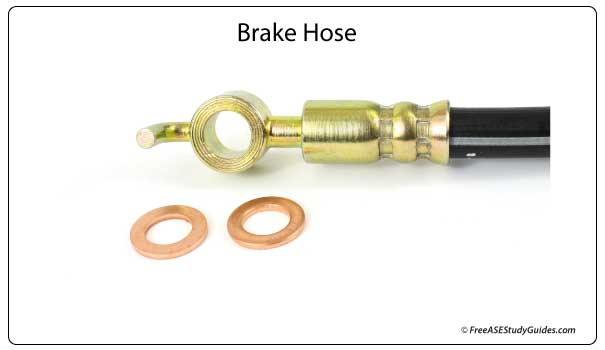 Brake hose and brass washers.