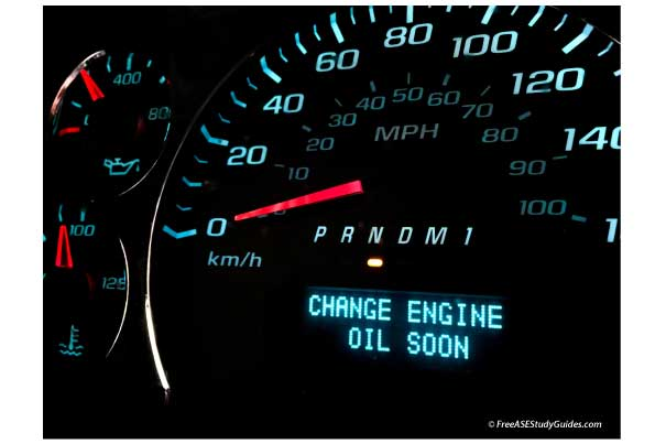Change oil soon light.