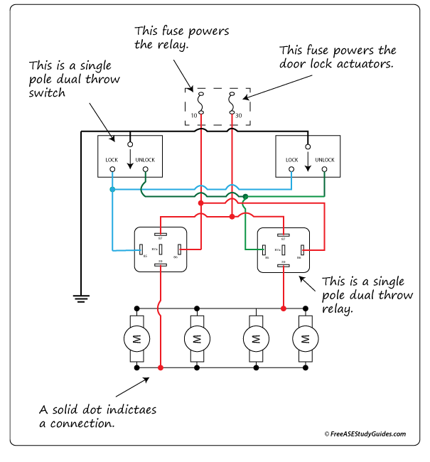 diagram of a ground side switched relay circuit rh freeasestudyguides com Wiring Relays for Halogen Headlights relay wiring ground switch