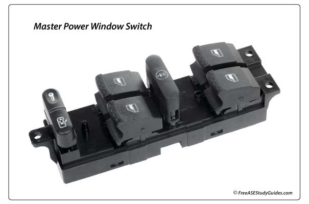 Automotive master window switch.
