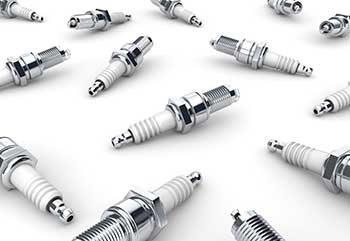 Different spark plugs.