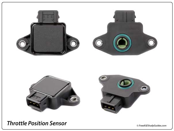four different views of a throttle position sensor